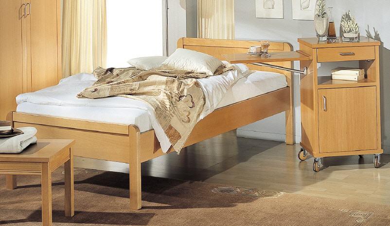 reichert komfortbett bozen mit niedrigem fu teil. Black Bedroom Furniture Sets. Home Design Ideas