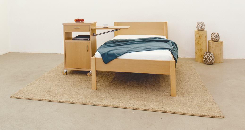 reichert komfortbett tessin mit niedrigem fu teil. Black Bedroom Furniture Sets. Home Design Ideas